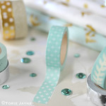 White Crosses on Mint Green Washi Tape