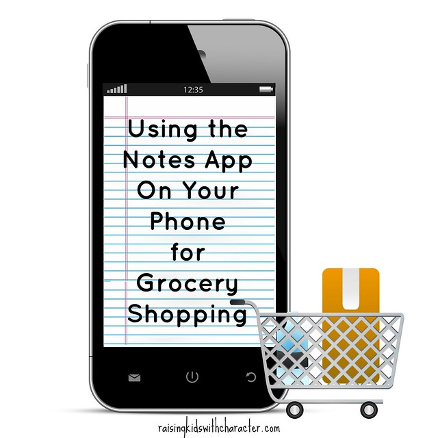 Using the Notes App On Your Phone for Grocery Shopping