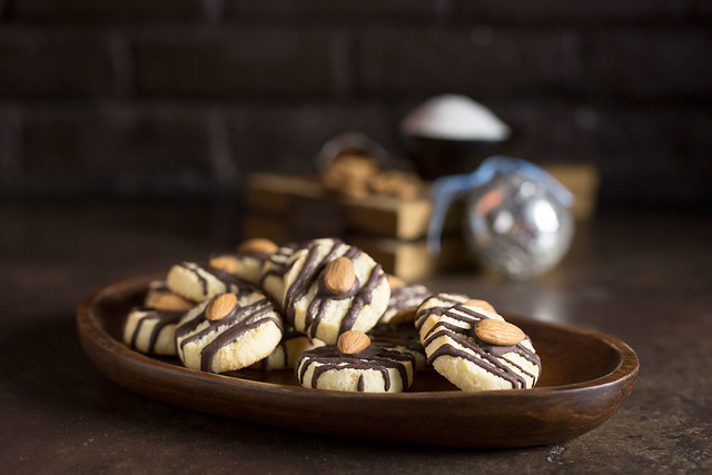 Chocolate Striped Coconut Cookies