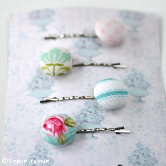 DIY pretty pastel bobby pins 1