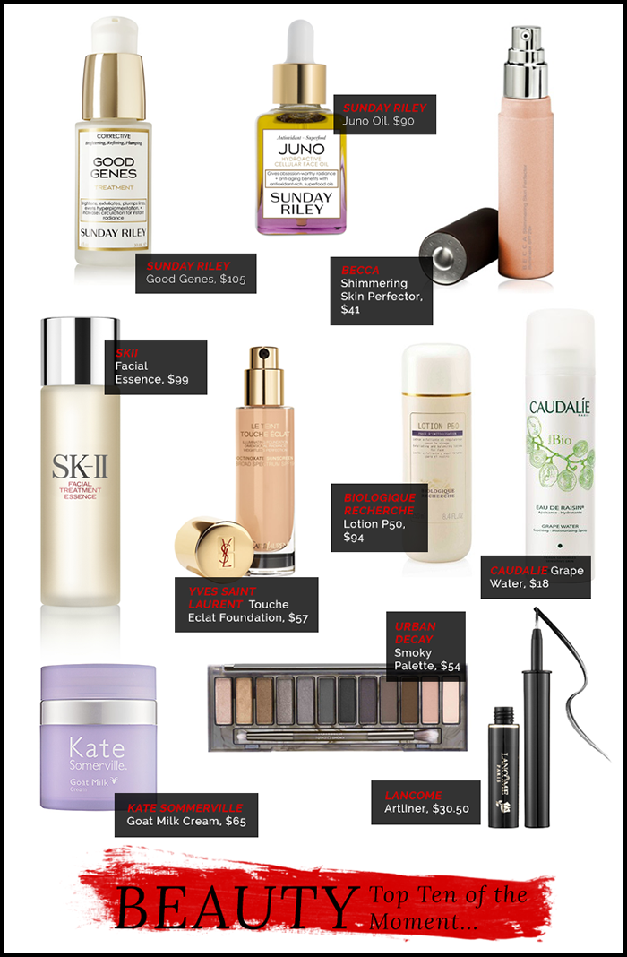 My Top Ten Beauty Products