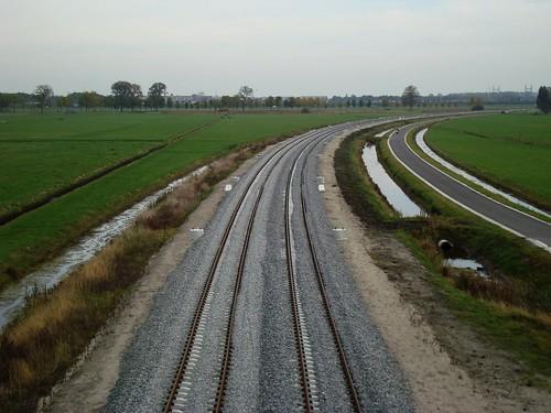 Hanzelijn in aanbouw richting Zwolle.
