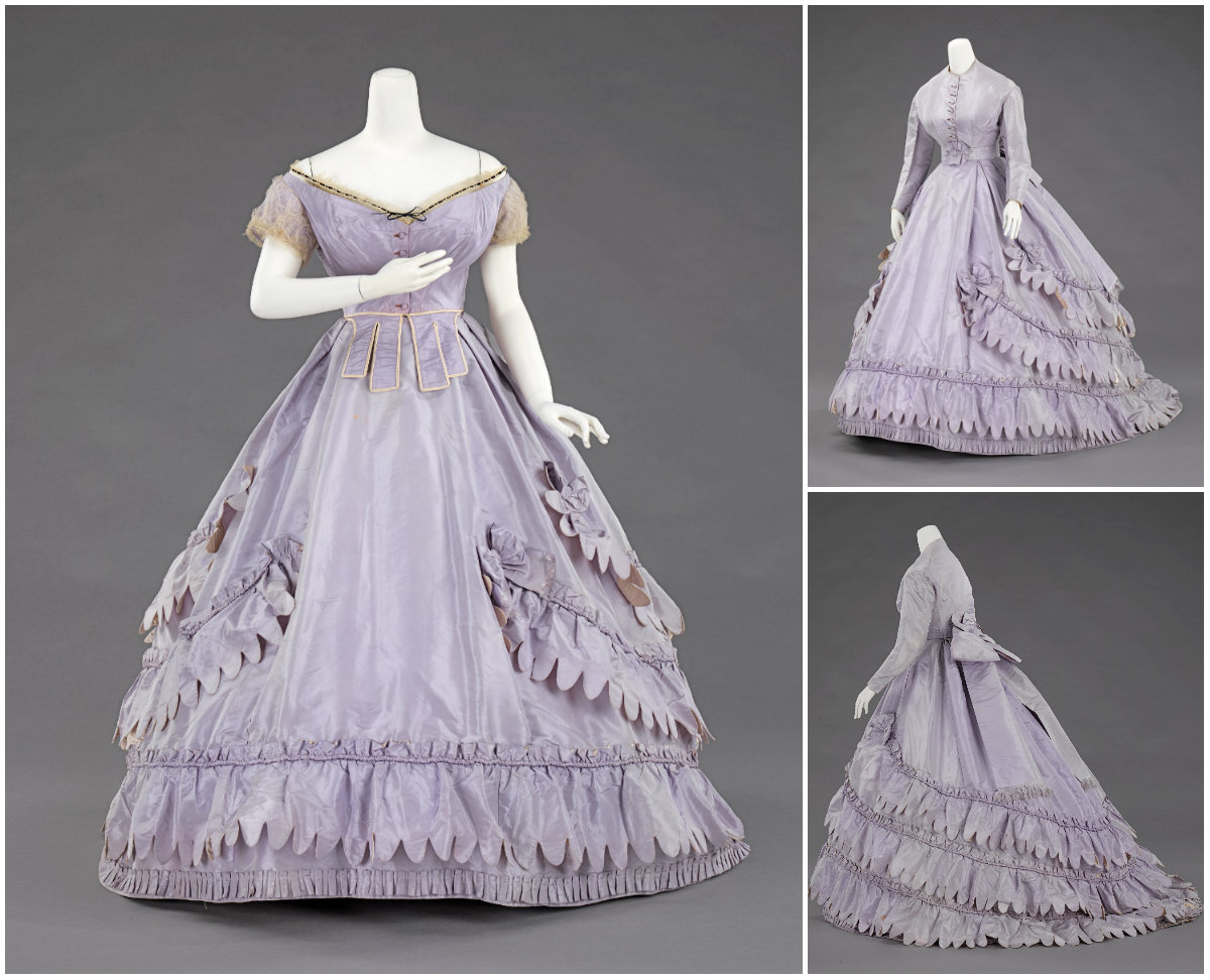 1862. Evening ensemble. Silk. metmuseum