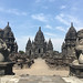 Entrance to the ancient 9th century Hindu temples of Prambanan in central Java, Indonesia.