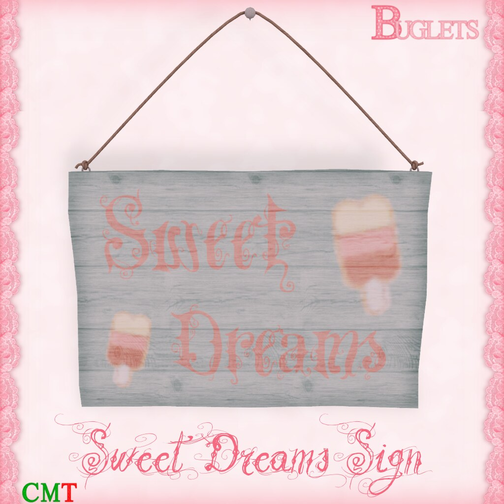 Sweet Dreams Sign AD - SecondLifeHub.com