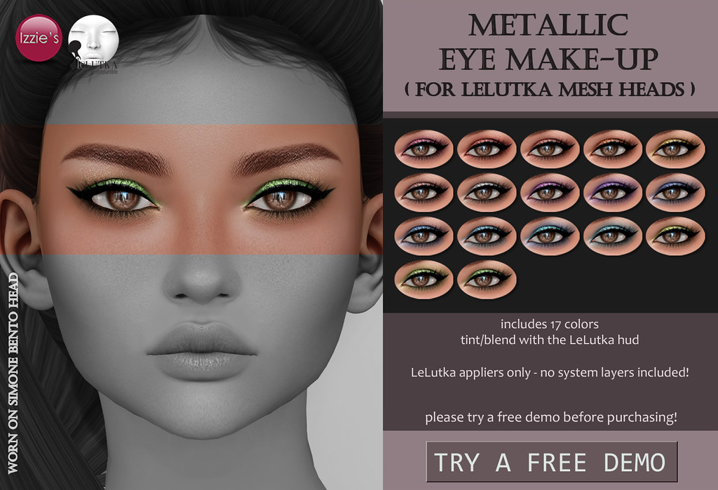 Metallic Eye Make-Up (LeLutka) - SecondLifeHub.com