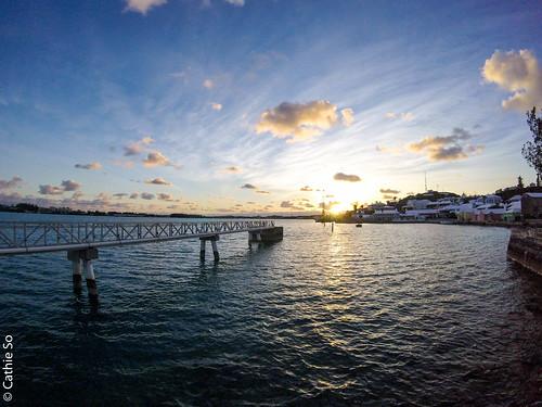gopro bermuda bridge dock blue clouds