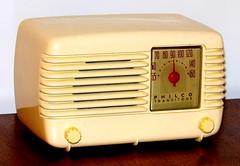 Vintage Radio Collection - Philco Transitone Table Radio, Model 48-200, AM Band, 5 Vacuum Tubes, AC-DC, Ivory Paint On Bakelite, Made In USA, Circa 1948
