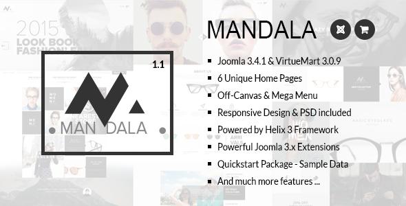 Mandala v1.0 - Responsive Joomla & VirtueMart Template