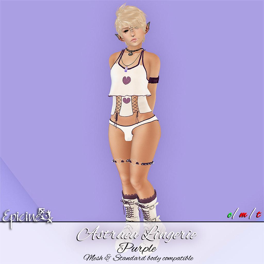 Epicine - Astraea Lingerie - Purple - SecondLifeHub.com