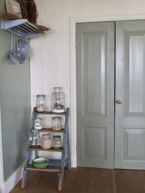 Groene bedstee deurtjes