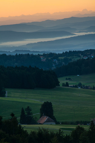 Alpenblick vom Hornbergbecken, Schwarzwald