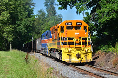 2015 06-29 0855 MMID SD40-2-3449 E/B UBST at New Midway, MD