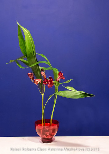 Ikebana showing lines at base