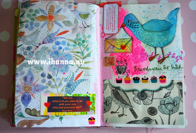Peek into iHanna's Art Journal: Gudrun Sjödén and My Dove by iHanna of www.ihanna.nu