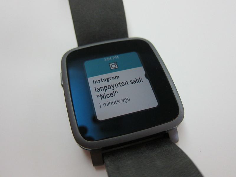 Pebble Time Steel Watch -  Notification