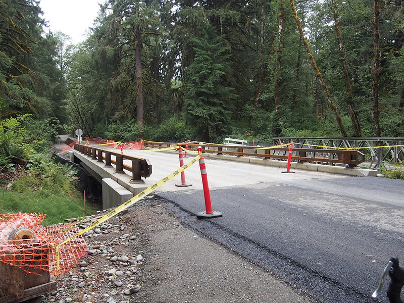 Middle Fork Rd Bridge: The start of the lower section of pavement.