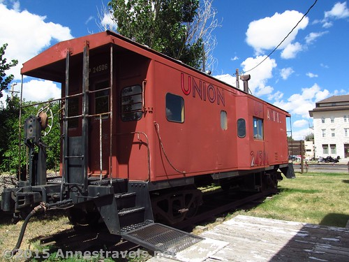 The caboose at the Medicine Bow Museum, Wyoming