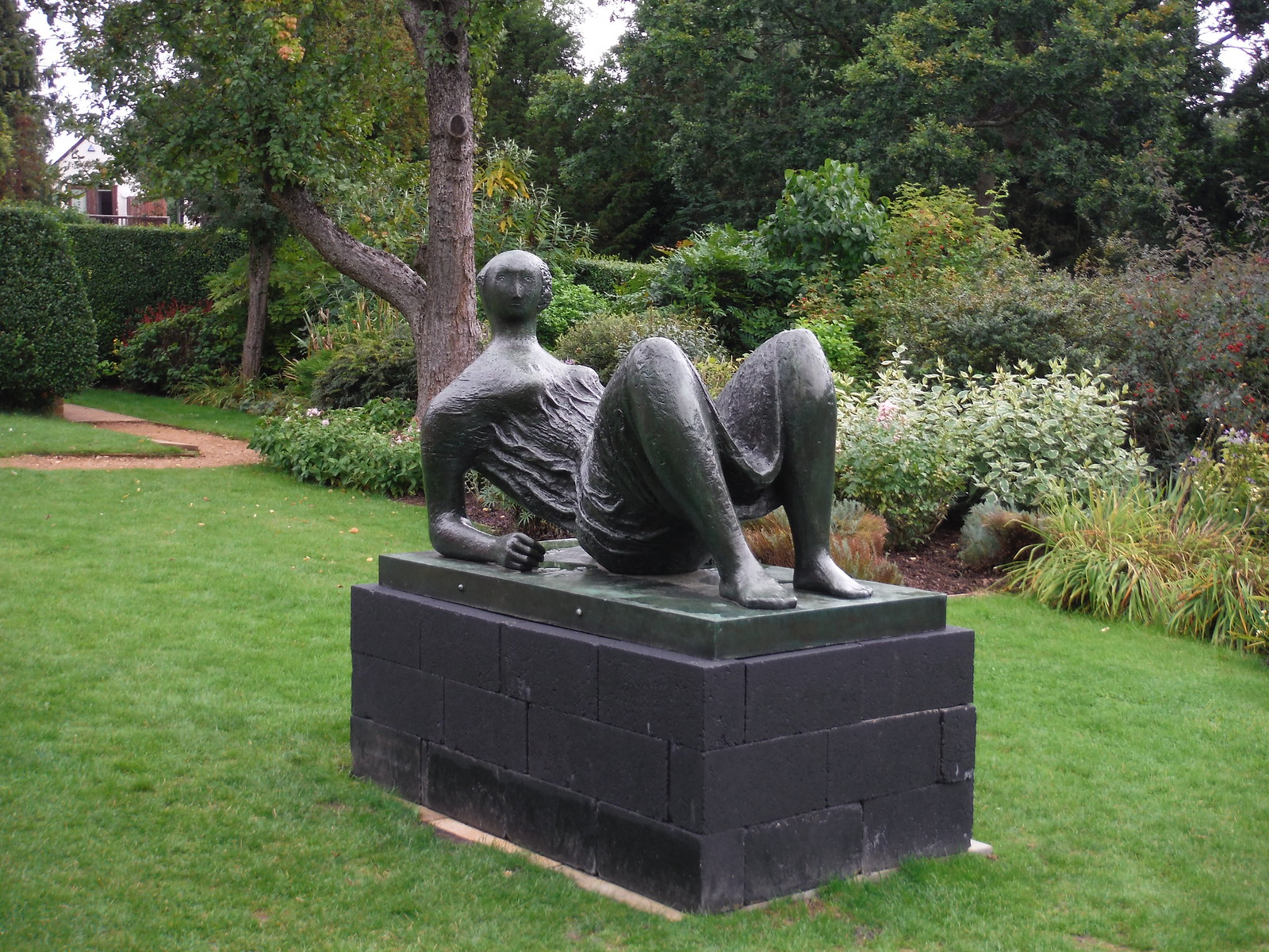 Draped Reclining Figure (1952-53) SWC Walk 164 Roydon to Sawbridgeworth via Henry Moore Foundation
