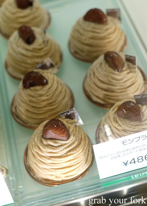 Mon Blanc chestnut cakes from LeTAO, Sapporo