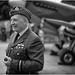 RAF Pilot and Spitfire by David Guyler