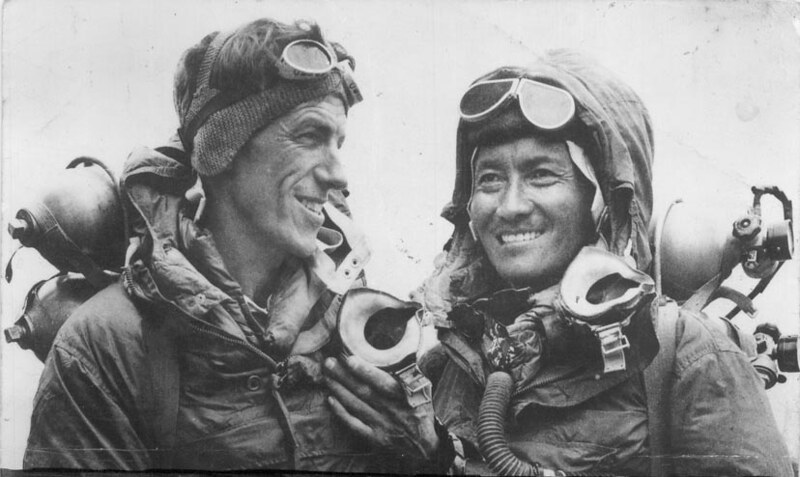 Edmund Hillary and Tenzing Norgay during 1953 British Mount Everest expedition