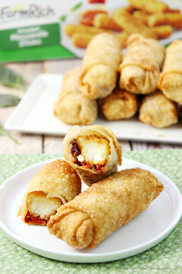 These Cheesy Mediterranean Egg Rolls make a great appetizer or snack idea! #BackYourSnack #Ad