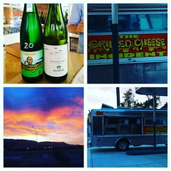 An evening on the #centralcoast with @101winetours @thestationslo and the#grilledcheeseincident #shareslo