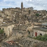 It's difficult to believe a place of manmade wonder this beautiful can even exist. The sassi (cave dwellings) town of Matera, Italy in the southern province of Basilicata. Among the most stunning towns I've seen in all of Italy, even on a day of spotty we