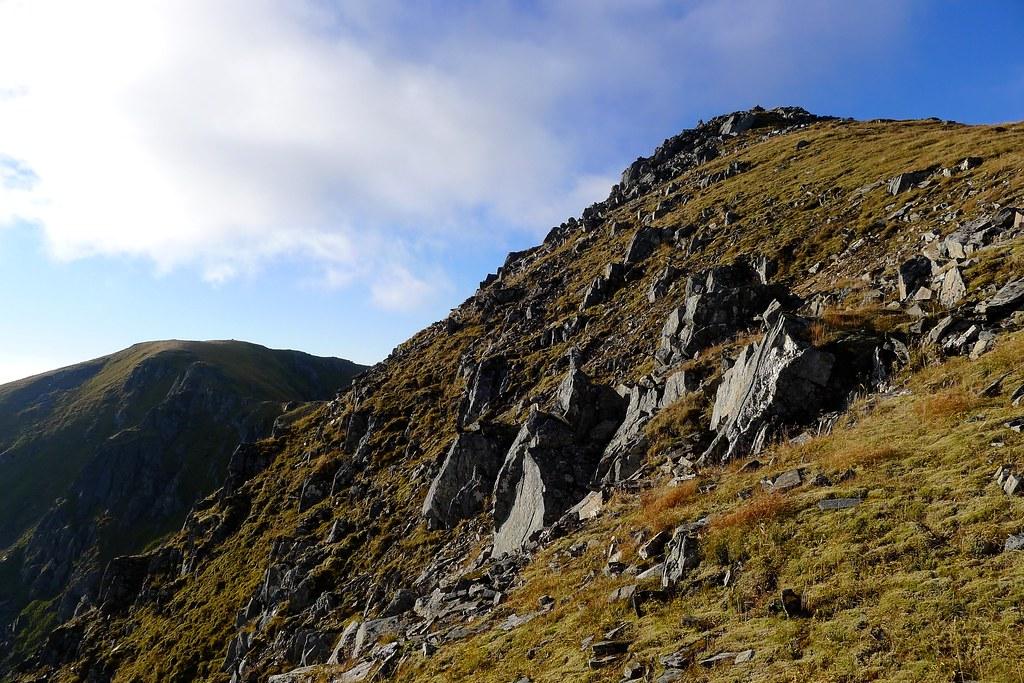 Twin summits of Sgùrr nan Ceathreamhnan