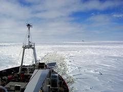 James Clark Ross Breaking Ice in Margueritte Bay