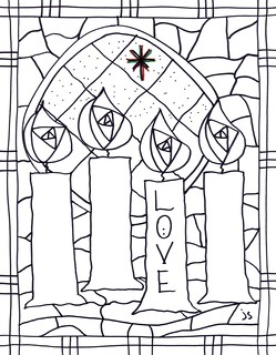 advent coloring pages joy - photo#21