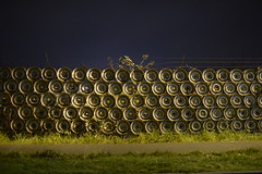 A wall of rims