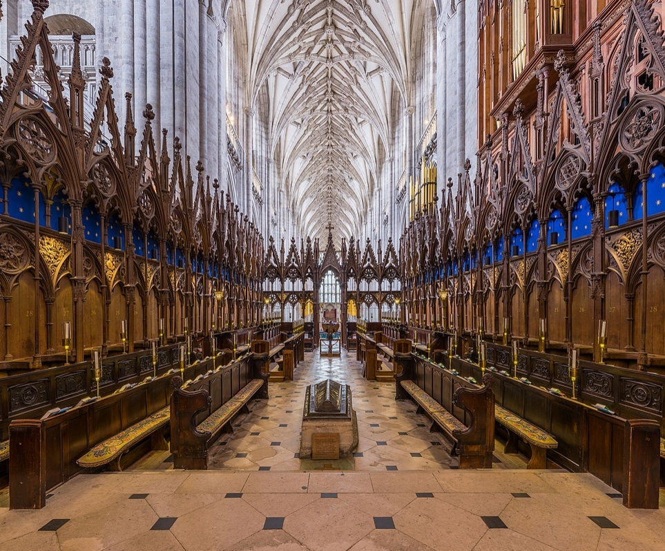 Winchester Cathedral - The Choir looking west. Credit: David Iliff