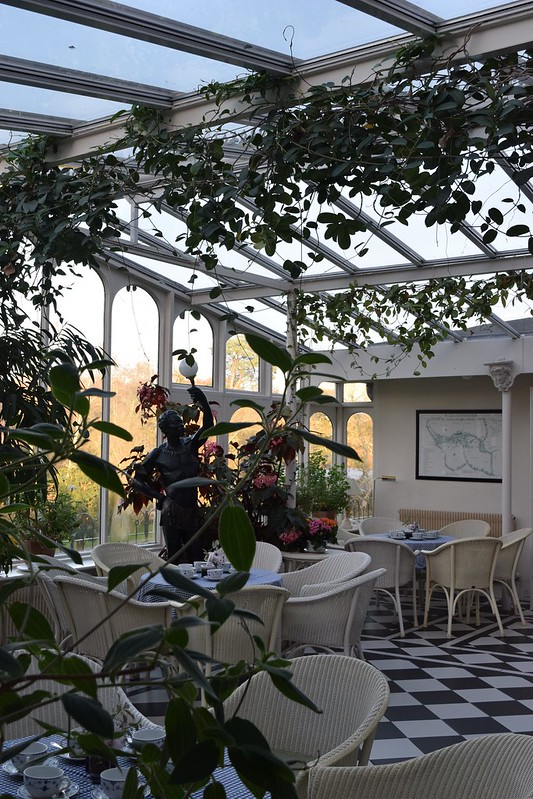 The atrium at Ballymaloe House