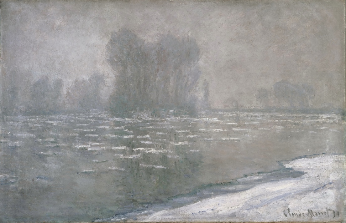 Ice Floes, Misty Morning by Claude Oscar Monet - 1894