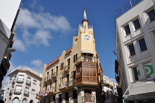 Sitges. Bartomeu Carbonell house aka the clock house (Casa del Rellotge). 1913-1915. Ignasi Mas, architect