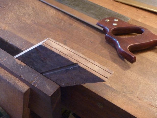 Cutting a tennon