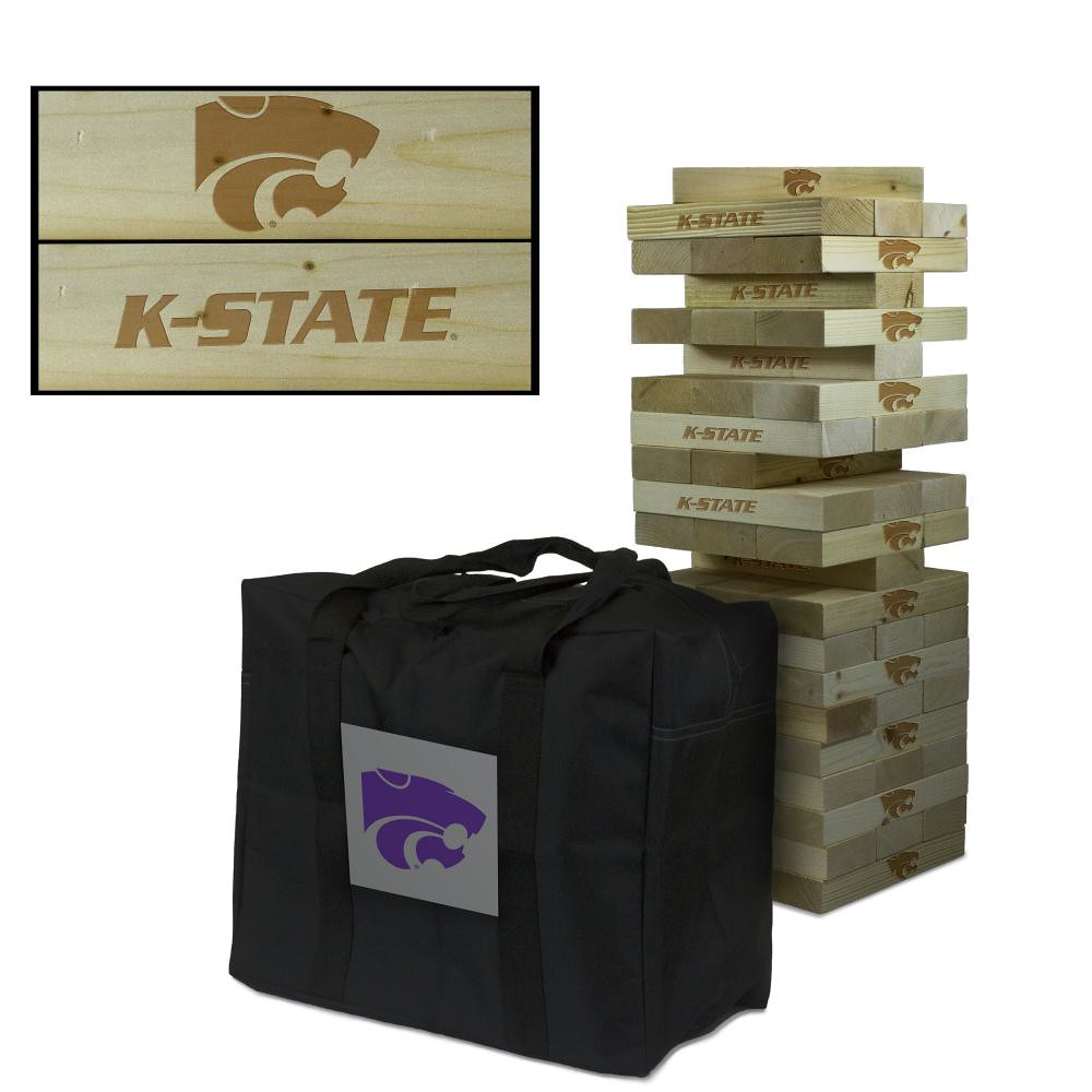Kansas State University Wildcats Wooden Tumble Tower Game
