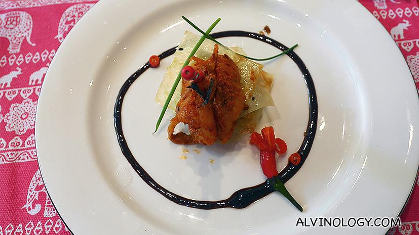 Varqui Crab - tellicherry pepper, curry leaf crab, tandoori shrimps