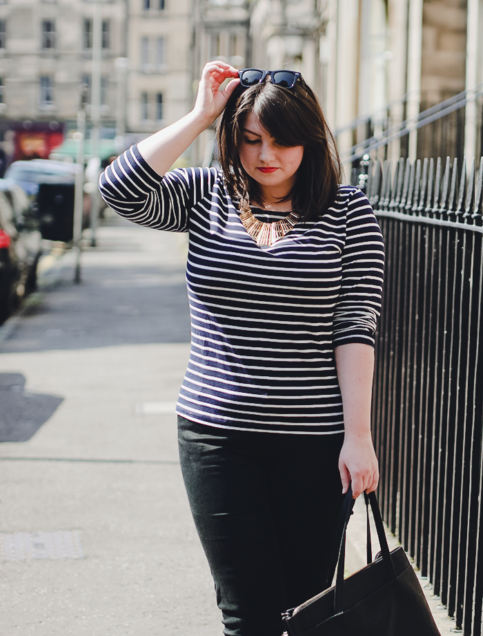 striped breton tee outfit 5
