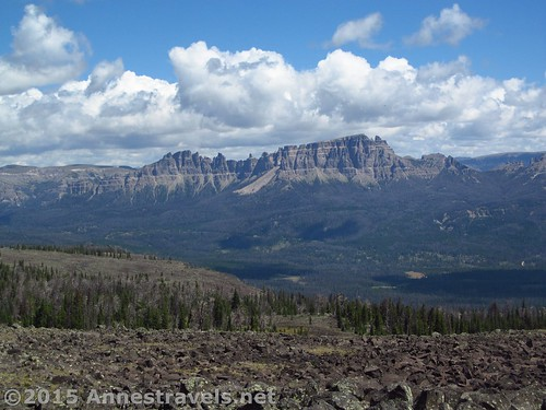 The view toward Pinnacle Peak from Lava Mountain, Shoshone National Forest, Wyoming