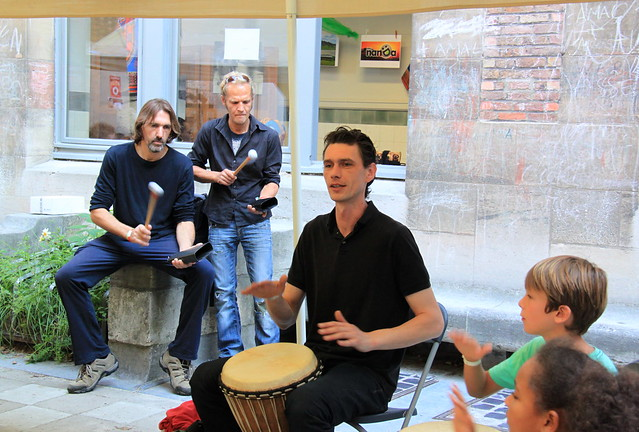 Initiatie djembe @Colorafestival Leuven (22/08/2015)