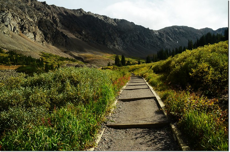 The Grays Peak trail is in great condition and easy to follow 2