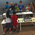 DJ Enferno toured with Madonna, and mixes and creates for crowds of 50k+ people, around the world.  But the crowd pictured here might be his biggest challenge yet. Kid Creator, his passion project, aims to help kids learn about and create their own music,