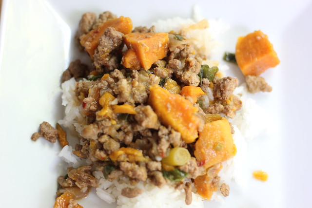 Crockpot Sweet and Spicy Ground Turkey and Sweet Potato Stew