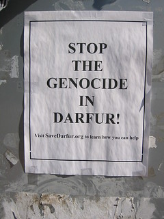 Darfur protest sign