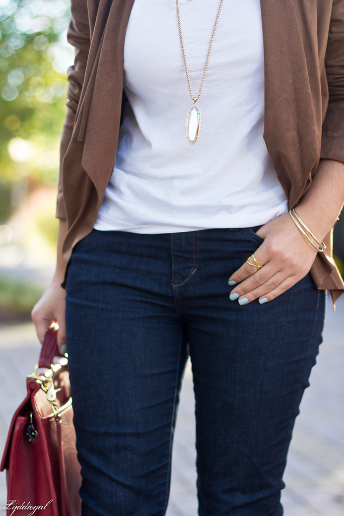 brown suede jacket, white tee, denim, leopard pumps-6.jpg