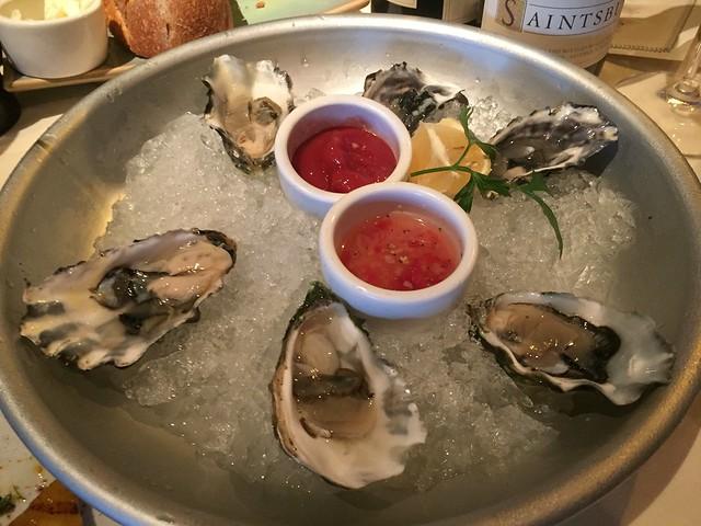 Miyagi oysters on the half shell - Buckeye Roadhouse
