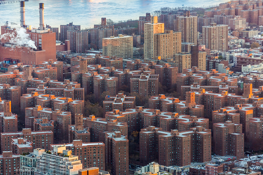 Cookie cutter housing of Stuyvesant Town, NYC- South Manhattan